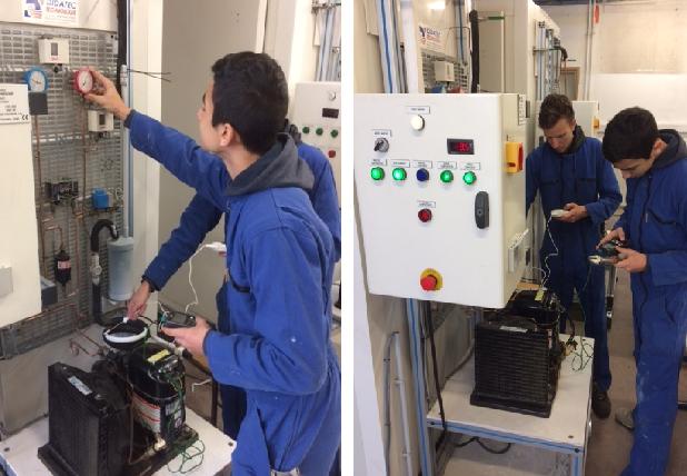 Bac Pro TFCA - Formation sur les machines frigo